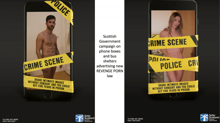 Scottish Government advertising campaign on Revenge Porn law