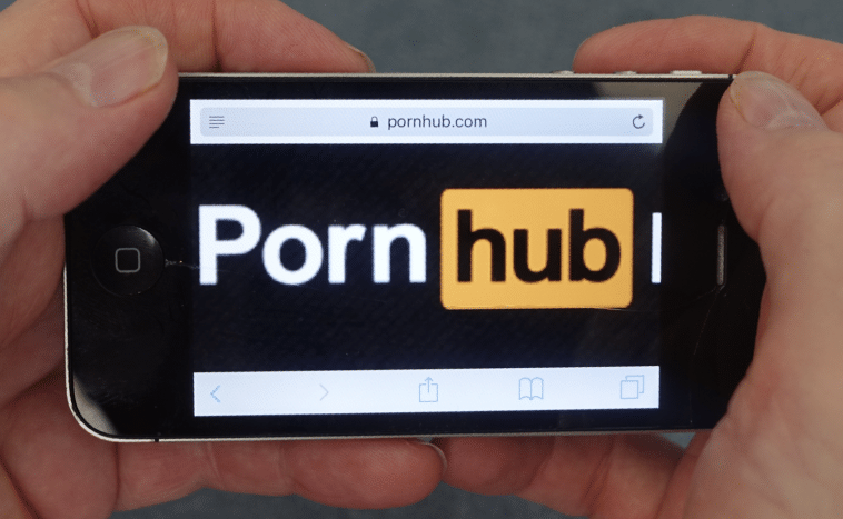 Screen Shot of Pornhub on phone