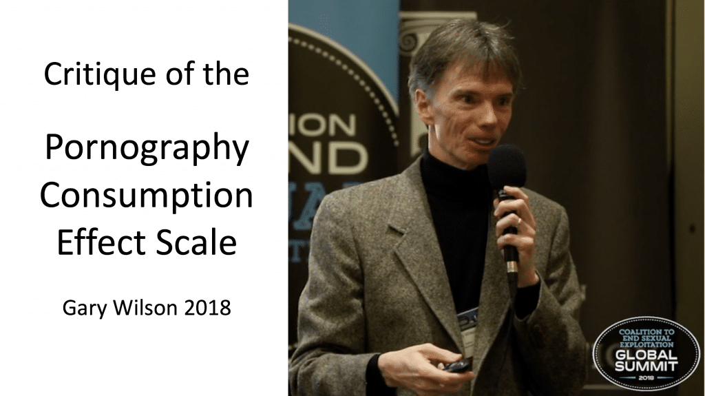 Gary Wilson se kritiek op die Pornography Consumption Effect Scale Hald en Malamuth 2008